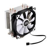 Computer Cooler CPU Cool Master 4 Pure Copper Hot Tube Freezing Tower Cooling System CPU Cooling Fan with Fan (Blade Color : One Fan)