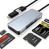 Pubioh USB 3.0 and USB C Card Reader Multi-Card Reader to SD/CF/TF/MS/M2 Card Reader OTG Memory Card Adapter for SD, CF, Micro SD, SDHC, SDXC, Micro SDHC, MS Pro etc.