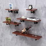 ZCME-power Floating Shelves Wall Shelf, Wood Wall Storage Shelves, Wall Mounted Shelf Organizer for Living Room, Bedroom, Kitchen, Bathroom, Office,Red