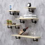 ZCME-power Floating Shelves Wall Shelf, Wood Wall Storage Shelves, Wall Mounted Shelf Organizer for Living Room, Bedroom, Kitchen, Bathroom, Office,Woodcolor