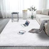 Modern Area Rugs Soft Decor Rug for Bedroom Living Room Nursery Floor Fluffy Shag Collection Rug Plush Fuzzy Shaggy Throw Rug Washable Faux Fur Mats Multi Colored Accent Rug Carpet White 8x10