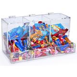 Acrylic Candy Bin for Tabletop Use, 3 Compartments - Clear
