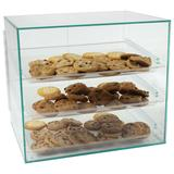Food Display Case with (3) Plastic Removable Trays - Green Acrylic
