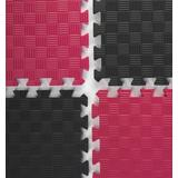 Red & Black Mix and Match Trade Show Mats, Multicolor