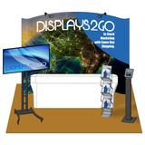 10 x 10 Trade Show Booth Package with Graphics & TV Stand