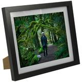 """8"""" x 10"""" Wood Picture Frames with Mat for Tabletop or Wall Mount"""