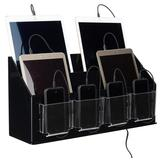 Charging Kiosk for Tabletop, 10 Cables, Lightning & Micro-USB - Black