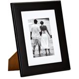 """5"""" x 7"""" Black Picture Frame with Mat Board"""