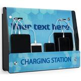 """Pre-Printed """"Charging Station"""" Kiosk for Wall w/ Customizable Text, 1"""