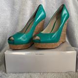 Nine West Shoes | Nine West Linger Size 9 Platform Wedges | Color: Blue/Green | Size: 9