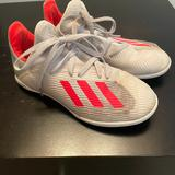 Adidas Shoes   Adidas Kids Y1 Indoor Soccer Shoes   Color: White   Size: 1b
