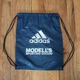 Adidas Bags   Adidas Navy White 3 Stripe Logo Drawstring Nylon   Color: Blue/White   Size: Os