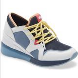 Michael Kors Shoes | Michael Kors Liv Trainer Small Air Navy Multi#8.5 | Color: Blue/White | Size: 8.5