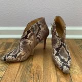 Jessica Simpson Shoes | New Snake Print Stiletto Ankle Boot | Color: Tan | Size: 7