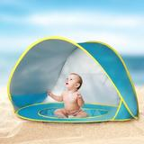 Kinbor Baby kids Pop- Up Play Tent w/ Carry Bag Polyester in Blue, Size 27.6 H x 31.5 W x 47.2 D in | Wayfair RYT0113-1