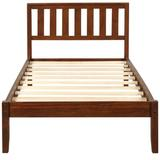 Red Barrel Studio® Katalina Wood Platform Bed w/ Headboard/Wood Slat Support Wood in Brown, Size 42.0 W x 78.0 D in | Wayfair