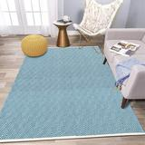 Foundry Select Maeda Extra Long Cotton Area Rug Runner Reversible Hand Woven Cotton Throw Rug Floor Mat Carpet Runner For Kitchen Bedroom Entryway Laundry Room Cotton