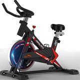 Exercise Bike,Indoor Cycling Bike Stationary Bike,Fitness Bike,Adults Workout Bike Home Gym Exercise Equipmen,Womens Cardio Machines for Home Use,Adjustable Bike Upright Bike,440 Lb (Black)