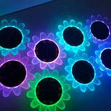 Solar Lights - Waterproof Outdoor Solar Lights Color Changing Garden Lights with Remote Control Outside Decoration Sunflowers Solar Lamp 14 Luminous Modes for Patio Porch Yard (Ordinary, 1 pc)