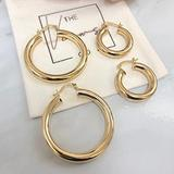 Gold Hoop Earrings | Small Gold Hoop | Thick Gold Hoops| Gold Filled Hoops | Chunky Gold Hoops 7476480578
