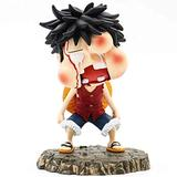 One Piece Monkey D. Luffy 5.1-Inch PVC Sculpture Figure Beaten Up, Puffy Face, Q Version