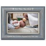 """culivis Personalized Godchild Picture Frame Personalized Baptism Picture Frame Engraved Personalized Baby Baptism Photo Frame from Godparents God Bless This Child Frame (4""""x6"""" Horizontal Vertical)"""