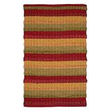 Cotton Rugs in Diamond Weave 24x36 inch Red Combo,Cotton Area Rugs,Indoor Out Door Rugs 2'x3',Rugs for Living Room, Machine Washable Rugs,Hand Woven & Kitchen Entryway Rug