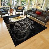 """Harley Rug, Area Rugs for Living Room, Bedroom Rug, Home Decor Rug, Harley Davidson Gifts, Carpet, Rug, Modern Rug, Popular Rug,Themed Rug, Rug for Living Room Hrly28.5(63""""x82"""")=160x210cm"""