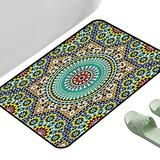 """Home Bedroom Floor Mats Moroccan Ancient Architectural Tile 39"""" x 29"""" Rectangle Personalized Floor mats"""