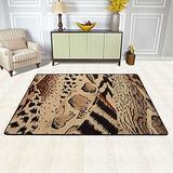 """Area Rug Brown Black Tan Cheetah Leopard Animal Print Doormat Carpet Floor Mat Rug Indoor/Outdoor/Front Door/Bathroom Mats Non Slip Area Rugs 72""""x48"""""""
