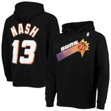 """Men's Mitchell & Ness Steve Nash Black Phoenix Suns Hardwood Classics Name Number Pullover Hoodie"""
