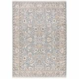 Canora Grey 9' X 12'Ivory Machine Woven Floral Oriental Indoor Area Rug in Blue, Size 155.12 H x 118.11 W x 0.23 D in   Wayfair