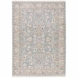 Canora Grey 6' X 9'Ivory Machine Woven Floral Oriental Indoor Area Rug in Blue, Size 0.23 H x 78.74 W x 116.54 D in   Wayfair