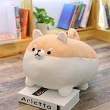 Harriet Bee Anime Shiba Inu Plush Stuffed Sotf Pillow Doll Cartoon Doggo Cute Shiba Soft Toy in Brown, Size 19.7 H x 14.184 W x 7.486 D in | Wayfair