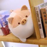 Harper Orchard Anime Shiba Inu Plush Stuffed Sotf Pillow Doll Cartoon Doggo Cute Shiba Soft ToyPlastic in Brown | Wayfair