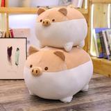 Harper Orchard Anime Shiba Inu Plush Stuffed Sotf Pillow Doll Cartoon Doggo Cute Shiba Soft Toy Plastic in Brown | Wayfair