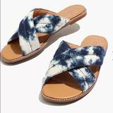 Madewell Shoes   Madewell Skylar Sandals Tie-Dye Canvas   Color: Blue/White   Size: 6.5