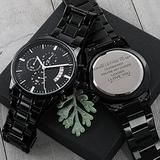 Customized Black Chronograph Watch