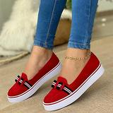 Hwcpadkj Wedge Sandals for Women Closed Toe Sandals Platform Chunky Sandals Shoes Flat Lok Fu Sports Vulcanized Canvas Moccasin Sandals and Slippers,Red,36