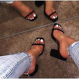 Transparent Women's Peep Open Toe Platform Sky High Thick Heel Ankle Strap Buckle Party Sandals Sexy Sandals Pole Fitness Dancer Heel Platform Sandal Summer Shoes for Wedding Party Prom,Black,8