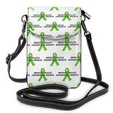 Mental Health Awareness Crossbody Bags for Women,Crossbody Bag, Small Crossbody Bag PU Leather with Card Slots Lightweight