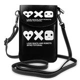 Love Death and Robots Crossbody Bags for Women,Crossbody Bag, Small Crossbody Bag PU Leather with Card Slots Lightweight