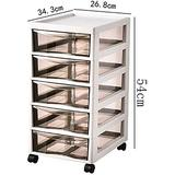 File cabinet Multifunctional Storage Cabinet, File Cabinet, Mobile Desktop File Storage Cabinet with Rollers, Plastic Drawer Type Large Space Pp Material Office Supplies (Color : 343×268×540mm)