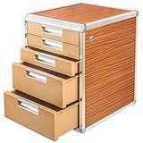 File cabinet Aluminum Alloy Desktop File Cabinet Multi-Layer Lockable Data Cabinet File Storage Cabinet File Box Office Supplies Portable Organizing Storage Box File Rack Office Supplies