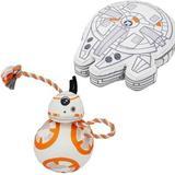 STAR WARS BB-8 Ballistic Nylon Plush Squeaky Toy + MILLENNIUM FALCON Ballistic Nylon Plush Squeaky Dog Toy