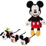 Disney Mickey & Friends Plush Mice + Mickey Mouse Plush Kicker Cat Toy with Catnip