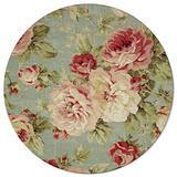 Round Area Rugs 3 ft Vintage Rose Floral Flowers Soft Floor Carpets Indoors/Outdoor Living Room/Bedroom/Children Playroom/Kitchen Mats Non Slip Yoga Carpets