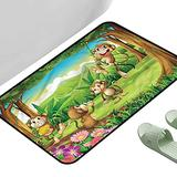 """Porch Doormats Tropical Fun Monkey Face Portrait 47"""" x 31"""" Rectangle Silky Smooth Bedroom Mats"""