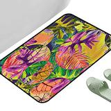 """Porch Doormats Tropical Exotic Island Forest Leaf 35.5"""" x 23.5"""" Rectangle Personalized Floor mats"""