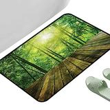 """Porch Doormats Tropical Wood Board Forest Sun 47"""" x 35"""" Rectangle Cheap Rugs"""